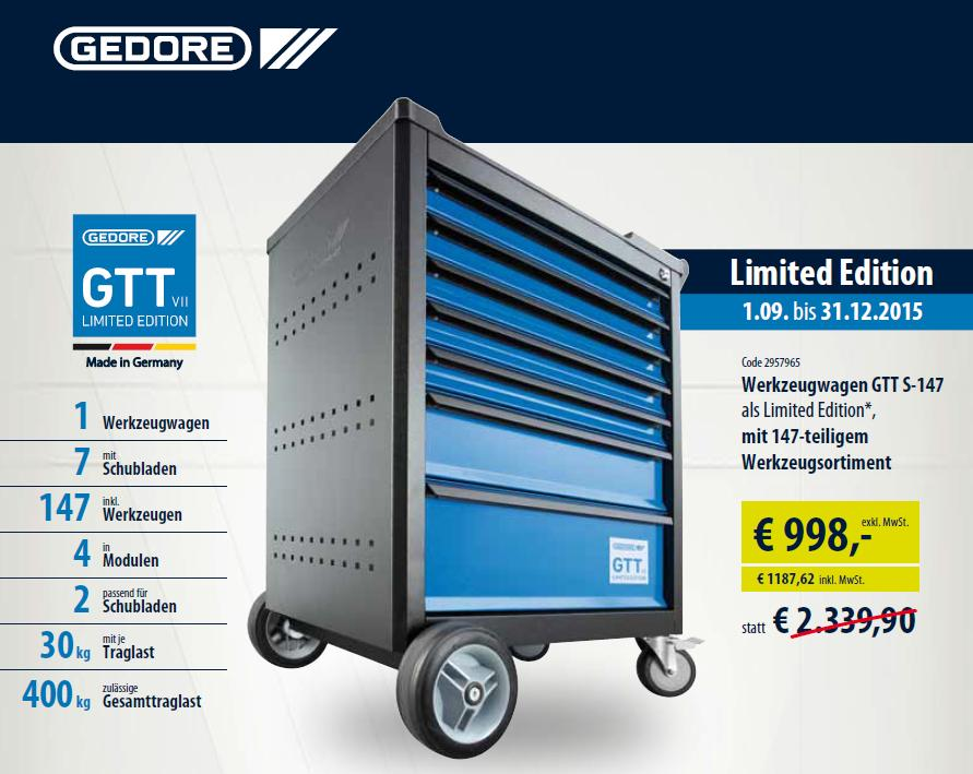 Gedore limited edition 2015