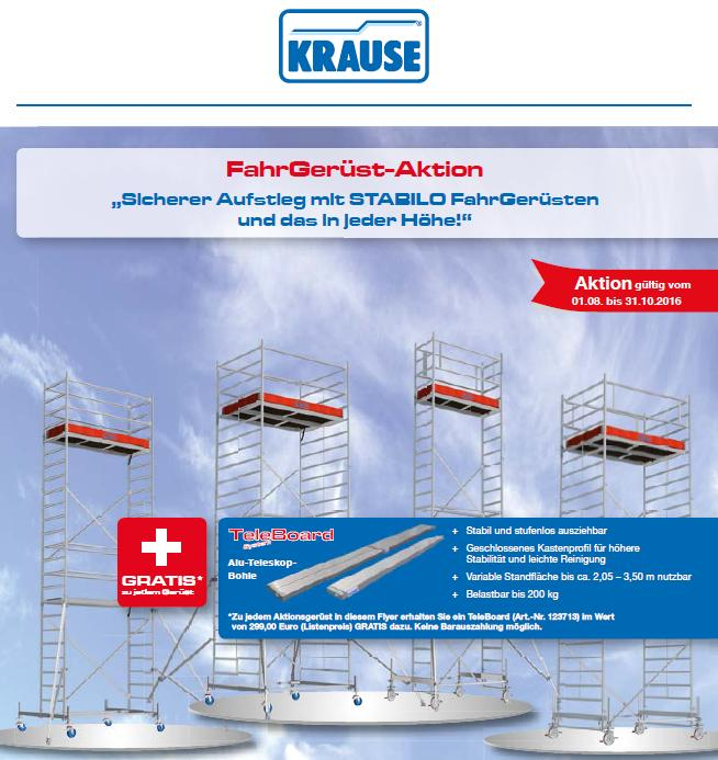Krause-Aktion-Fahrgerüst